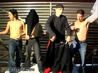 Sex boy movies small Garage Piss Orgy For Justin