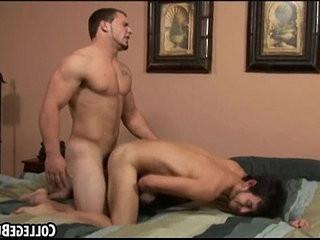Horny frat boy getting fucked hard by a buff stud