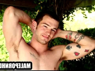 He is a hot musclular hunk with tattootoos who is soloing