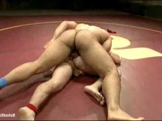 Hot muscle gay studs fight to fuck ass at the quarter finals
