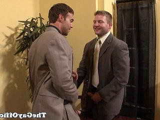 Rocco Reed sits on office manageres shaft