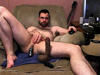 string uping a fat dildo