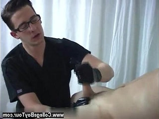Hot homo sex Putting on a pair of gloves the doctor proceeded to take