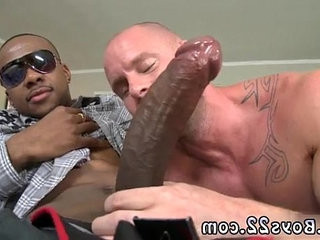 Straight black studs jerking group queer monster bone deep in her gullet